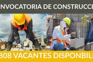 1.808 ofertas de trabajo de CONSTRUCCIÓN encontradas