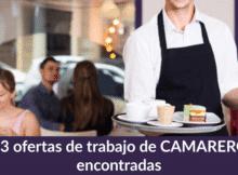 1.183 ofertas de trabajo de CAMARERO/A encontradas