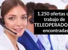 1.250 ofertas de trabajo de TELEOPERADOR/A encontradas