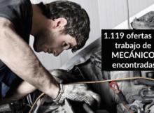 1.119 ofertas de trabajo de MECÁNICO encontradas