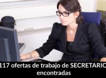 117 ofertas de trabajo de SECRETARIO encontradas