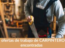 164 ofertas de trabajo de CARPINTERO/A encontradas