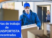 Ofertas de trabajo de TRANSPORTISTA encontradas